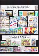 FRANCE TIMBRE  LOT COLONIE ST PIERRE MIQUELON WALLIS FUTUNA AFARS ISSAS COMORES SOMALIS NOUVELLES HEBRIDES - Collections (without Album)