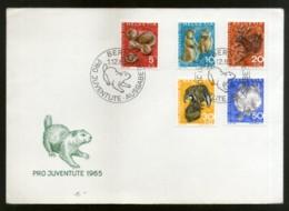Switzerland 1965 Wildlife Animals Fauna Hedgehogs Marmots Sc B350-54 FDC # 8048 - Postzegels