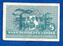 Allemagne  -  5 Pfennig  -    - Ros #250 -  état  TB - [ 7] 1949-… : FRG - Fed. Rep. Of Germany