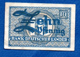 Allemagne  -  10 Pfennig  1948 -    - Ros # 251 -  état  TB  -taché Au Dos - [ 7] 1949-… : RFD - Rep. Fed. Duitsland