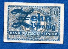 Allemagne  -  10 Pfennig  1948 -    - Ros # 251 -  état  TB  -taché Au Dos - [ 7] 1949-… : RFA - Rep. Fed. Tedesca