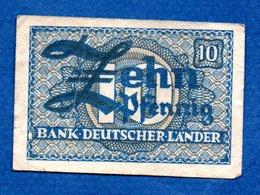 Allemagne  -  10 Pfennig  1948 -    - Ros # 251 -  état  TB - [ 7] 1949-… : RFA - Rep. Fed. Tedesca