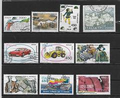 ITALIE 1707 à 1709/1711/1714 à 1719 Oblitérés Rond - 1981-90: Gebraucht