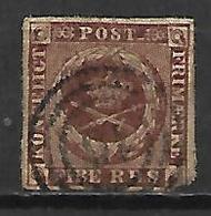 DANEMARK   -  1851 .  Y&T N° 2 Oblitéré. - Oblitérés