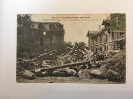 Armentières - Ruines De La Grande Guerre- Chateau De M. Motte - A Doite Les écuries - Armentieres