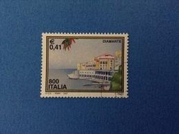 2001 ITALIA FRANCOBOLLO USATO STAMP USED - TURISTICA DIAMANTE - - 6. 1946-.. Repubblica