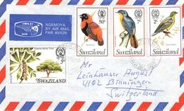 SWAZILAND - AIR MAIL LETTER 1978 -> BINNINGEN/SUISSE Mi #285, 235, 240, 246 - Swaziland (1968-...)