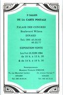 Bourse Et Salon - DINARD - 5è Salon De La Carte Postale - Palais Des Congrès - Année 1984 - Bourses & Salons De Collections