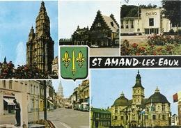 CPM . SAINT-AMAND-LES-EAUX .  MULTIVUES NON ECRITE - Saint Amand Les Eaux