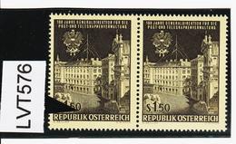 """LVT576 ÖSTERREICH 1966 Michl 1202 PLATTENFEHLER """"viele"""" Senkrechte STRICHE Mit VERGLEICHSTÜCK - Abarten & Kuriositäten"""