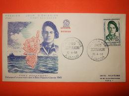 FRANCE 1er JOUR 1958- N°1158 Scamaroni Héros De La Résistance Sur Enveloppe.  Superbe - WW2
