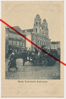 Minsk - Katholische Kathedrale Kirche - Church Eglise Kerk - 1918 - Stempel Landwehr - Belarus