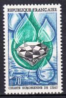 FRANCE  - 1969 - Yvert  1612 ** - Charte Européenne De L'eau - France