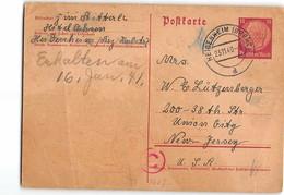 1562 02  HEIDENHEIM  TO UNION CITY U.S.A. - Germany