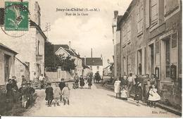 77 - JOUY LE CHATEL,  RUE DE LA GARE (ECRITE) - Autres Communes