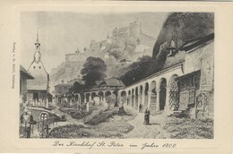 Der Kirchhof St. Peter Im Jahr 1800.  Austria.  S-4473 - Austria