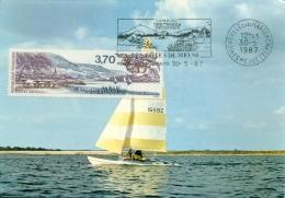 CM-Carte Maximum Card # France-1987 # Tourisme # Panorama,vue,Landscape # Les Côtes De Meuse ,oblit. Flamme  Vigneulles - Maximumkaarten