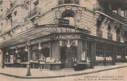 Paris : Librairie A. MALOINE & FILS, 17 Rue De L'école De Médecine ( Arrond. 6é ) - Arrondissement: 06