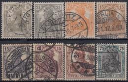 ALEMANIA IMPERIO 1916/1919 Nº 96/103 USADO - Alemania
