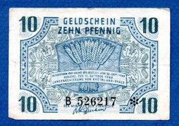 Rheinland- Pfalz -  10 Pfennig  15/10/1947-    - Ros # 212 -  état  TB - [11] Lokale Uitgaven