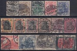 ALEMANIA IMPERIO 1905/1911 Nº 81/95 USADO - Alemania