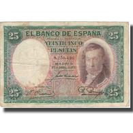 Billet, Espagne, 25 Pesetas, 1931, 1931-04-25, KM:81, TB+ - [ 2] 1931-1936 : Republiek