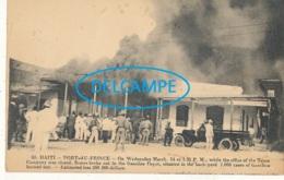 HAITI )) PORT AU PRINCE    Destruction Du Dépot De Carburants    60 - Cartes Postales