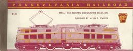 PENNSYLVANIA RAILROAD  STEAM AND ELECTRIC LOCOMOTIVE DIAGRAMS Lokomotives Locomotives Chemins De Fer Eisenbahnen - Chemin De Fer