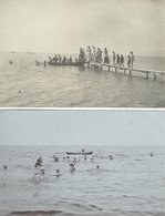 People Bathing - Where??  2 Cards.  S-4482 - Postcards