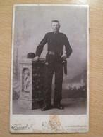 Cabinet Card Photo Of Kossak Joszef , Herkulesfurdo,  Băile Herculane  / Romania - Persone Anonimi