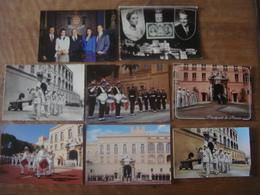 Principauté De MONACO - 8 Cartes Dynastie Rainier Grace Albert Caroline Stéphanie Grimaldi - Palais Du Prince - Garde - Palais Princier