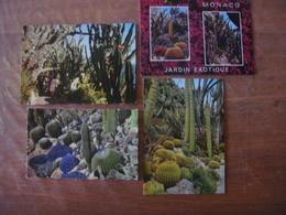 Principauté De MONACO - 4 Cartes Du Jardin Exotique - Jardin Exotique