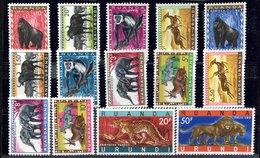 Ruanda- Urundi N° 205 à 216 - 216A/216B  Animaux Protégés - 1948-61: Ungebraucht