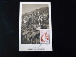 CARTE MAXIMUM - ABBAYE DE CONQUES - 1940-49