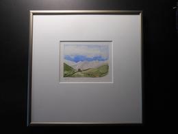 """Aquarell Schweiz """"IDYLLE"""" GR - 300,00 € (BAR/100% WIR) - Watercolours"""