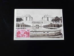 CARTE MAXIMUM - PARIS LE NOUVEAU TROCADERO VU DES JARDINS - 1940-49