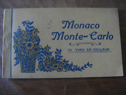Principauté De MONACO  Monte Carlo - Carnet Avec 10 Cartes En Couleur - Monaco