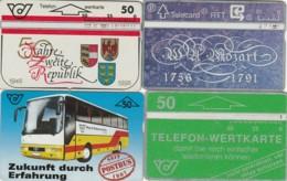 LOTTO 4 SCHEDE TELEFONICHE AUSTRIA  (CE0219 - Oesterreich