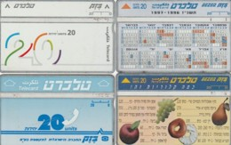 LOTTO 4 SCHEDE TELEFONICHE ISRAELE  (CE0235 - Israele
