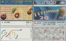 LOTTO 4 SCHEDE TELEFONICHE ISRAELE  (CE0236 - Israele