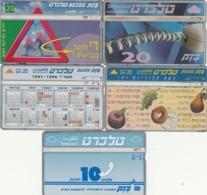 LOTTO 5 SCHEDE TELEFONICHE ISRAELE  (CE0237 - Israele