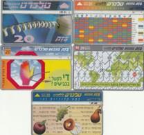 LOTTO 5 SCHEDE TELEFONICHE ISRAELE  (CE0238 - Israele