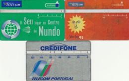 LOTTO 3 SCHEDE TELEFONICHE PORTOGALLO LANDIS (CE0279 - Portogallo