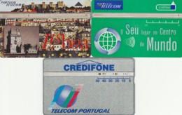 LOTTO 3 SCHEDE TELEFONICHE PORTOGALLO LANDIS (CE0280 - Portogallo