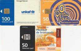 LOTTO 3 SCHEDE TELEFONICHE PORTOGALLO CHIP (CE0282 - Portogallo