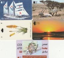LOTTO 5 SCHEDE TELEFONICHE OMAN  (CE0329 - Oman