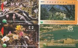 LOTTO 4 SCHEDE TELEFONICHE CIPRO  (CE0352 - Cyprus