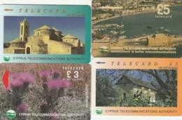 LOTTO 4 SCHEDE TELEFONICHE CIPRO  (CE0355 - Cyprus