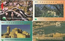 LOTTO 4 SCHEDE TELEFONICHE CIPRO  (CE0356 - Cyprus