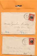 Corozal Panama 1915 2 Covers Mailed - Panama